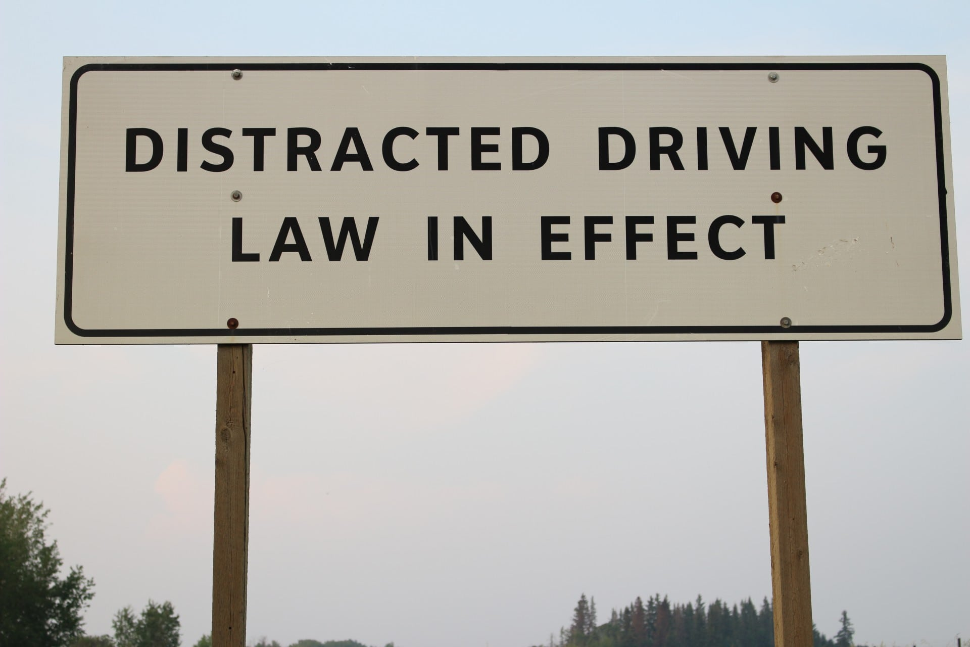 Road Sign about distracted drivers